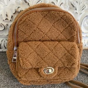 Camel Quilted Backpack